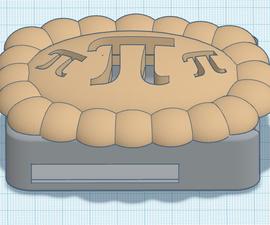 3D可打印PI饼图覆盆子PI案例使用Tinkercad!