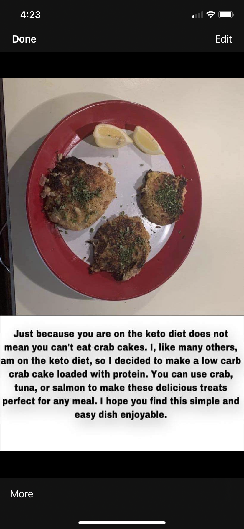 Keto Crab Cakes