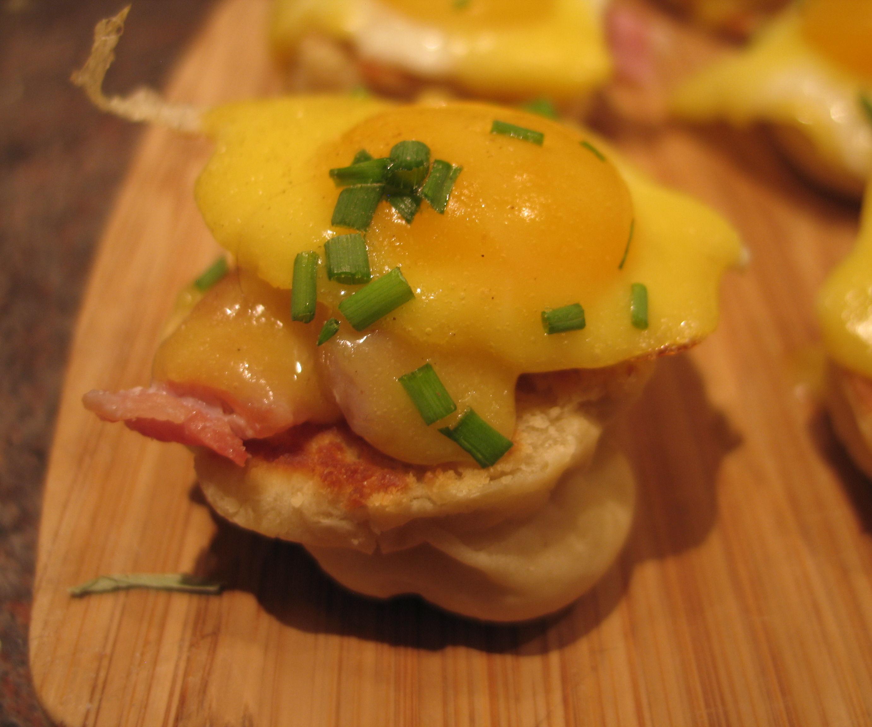 Eggs Benedict Canapes