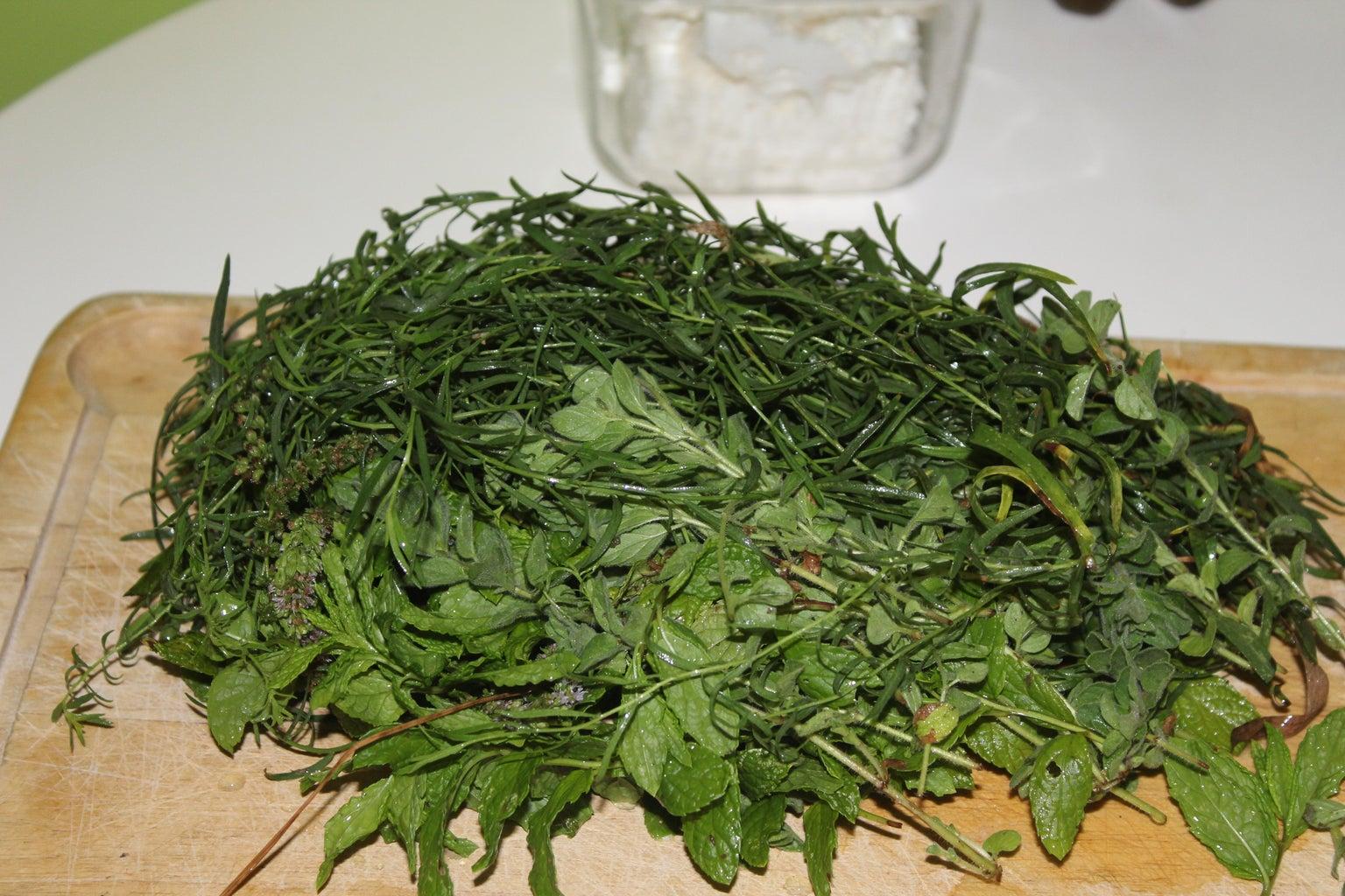 Tyrosalata (cheese Spread) With Aromatic Herbs