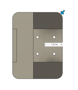 Design Process - Moving Load Cell Mount - Fillet
