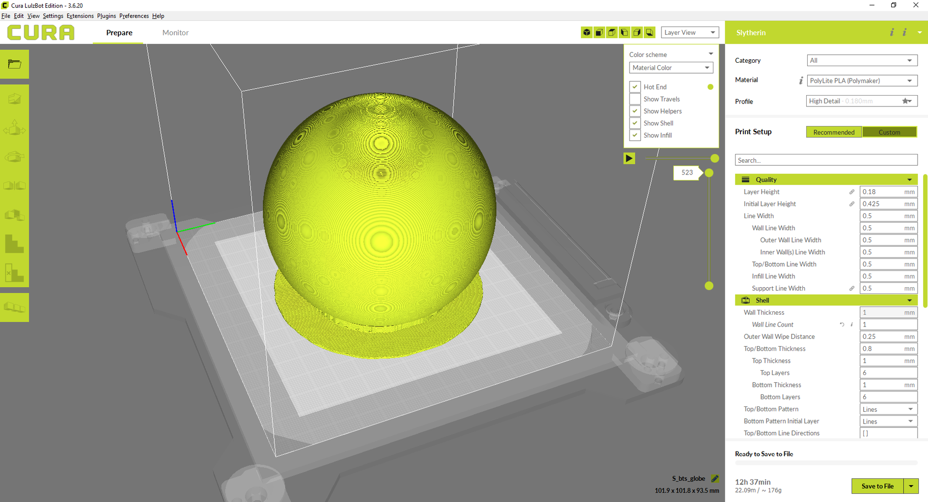3D Print Designs: Globe