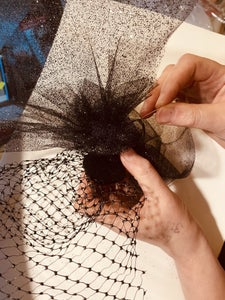 Constructing the Flouncy Top Part of the Not Hat / Fascinator