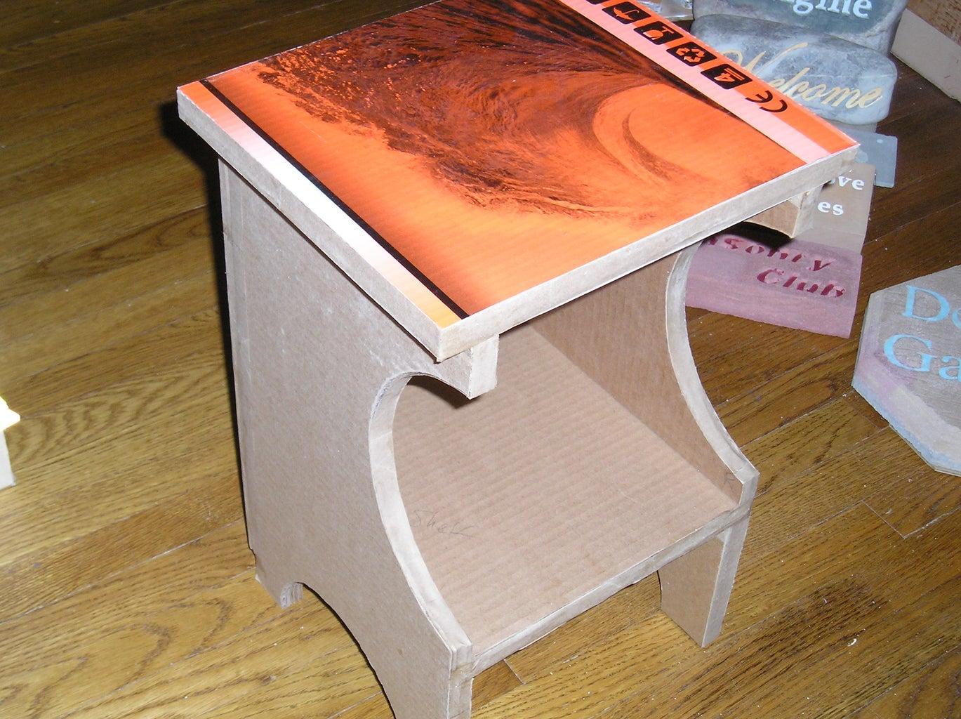 Finish Edges of Exposed Cardboard.