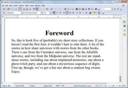 Create the Ebook Document