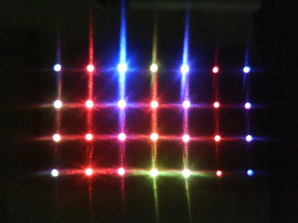 Sound Activated 4 X 7 RGB LED Matrix
