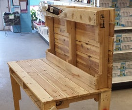 Wood Pallet Mini Bar