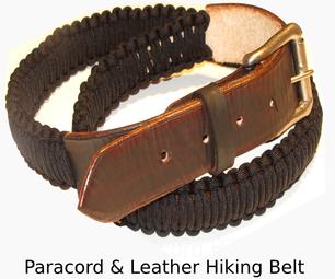 基本皮革和帕拉轮队生存徒步旅行腰带