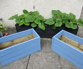 Simple Planter From Old Decking