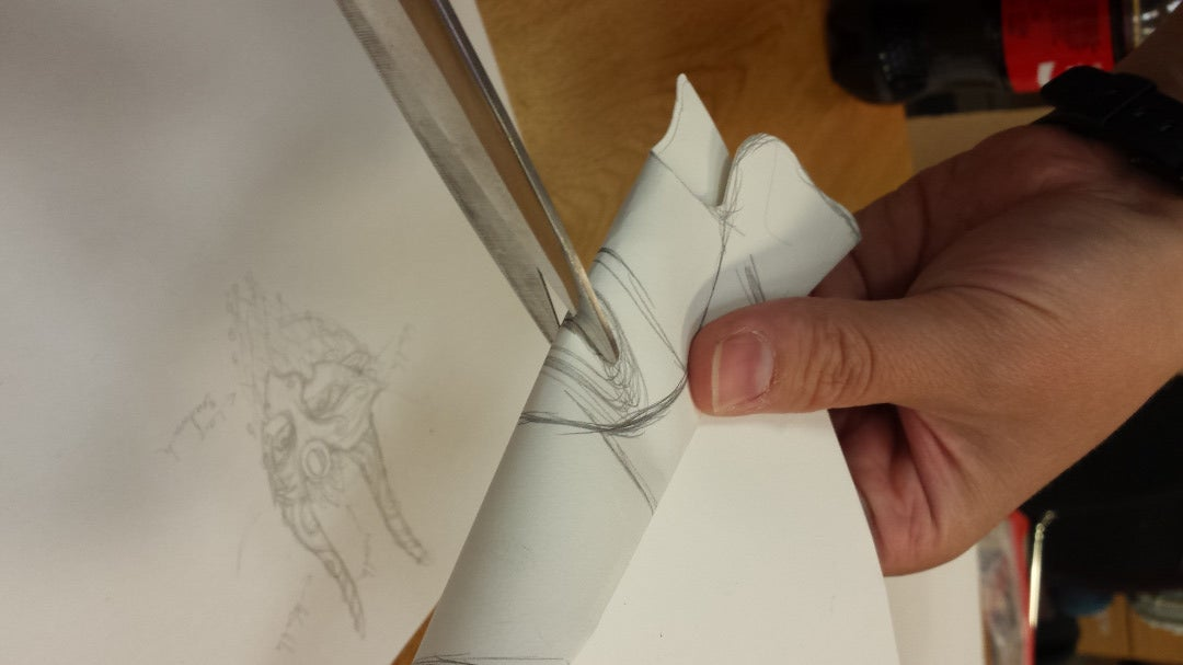 Making the Paper Template for the Leather Mask