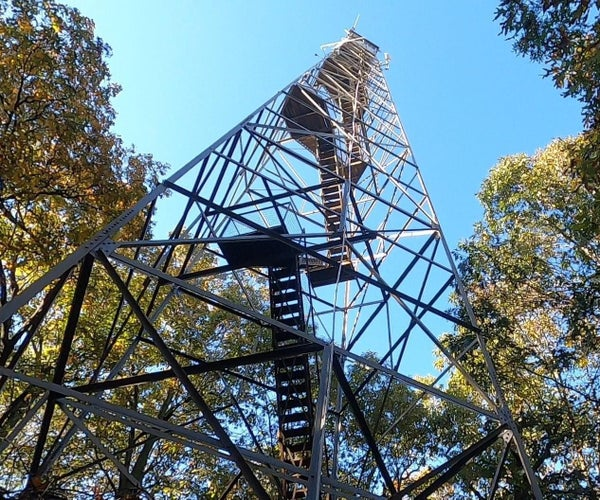 Climbing Fire Tower Steps Safely