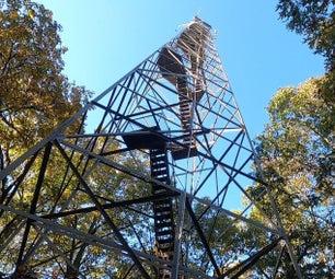 安全地攀爬火塔台阶