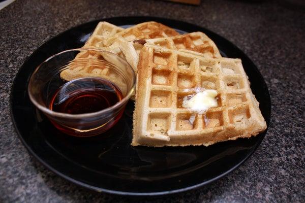 Pumpkin Waffles, Yum!