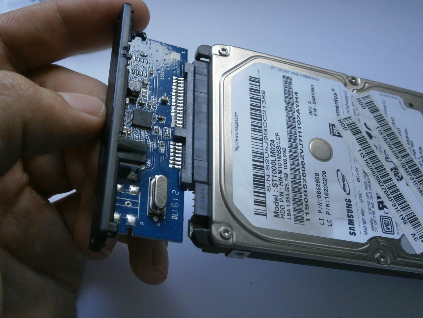 Put the HDD in the Box