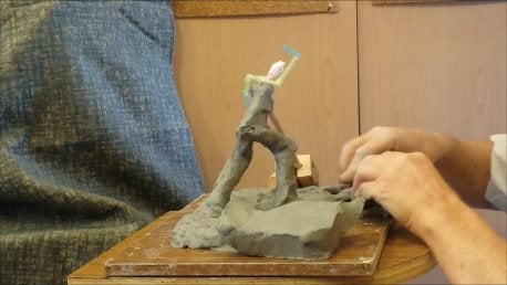 Adding Clay to Form the Base and Figure