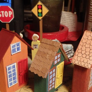 Nordic Wooden House Christmas Village
