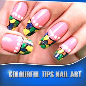 Colorful Tips Nail Art Design