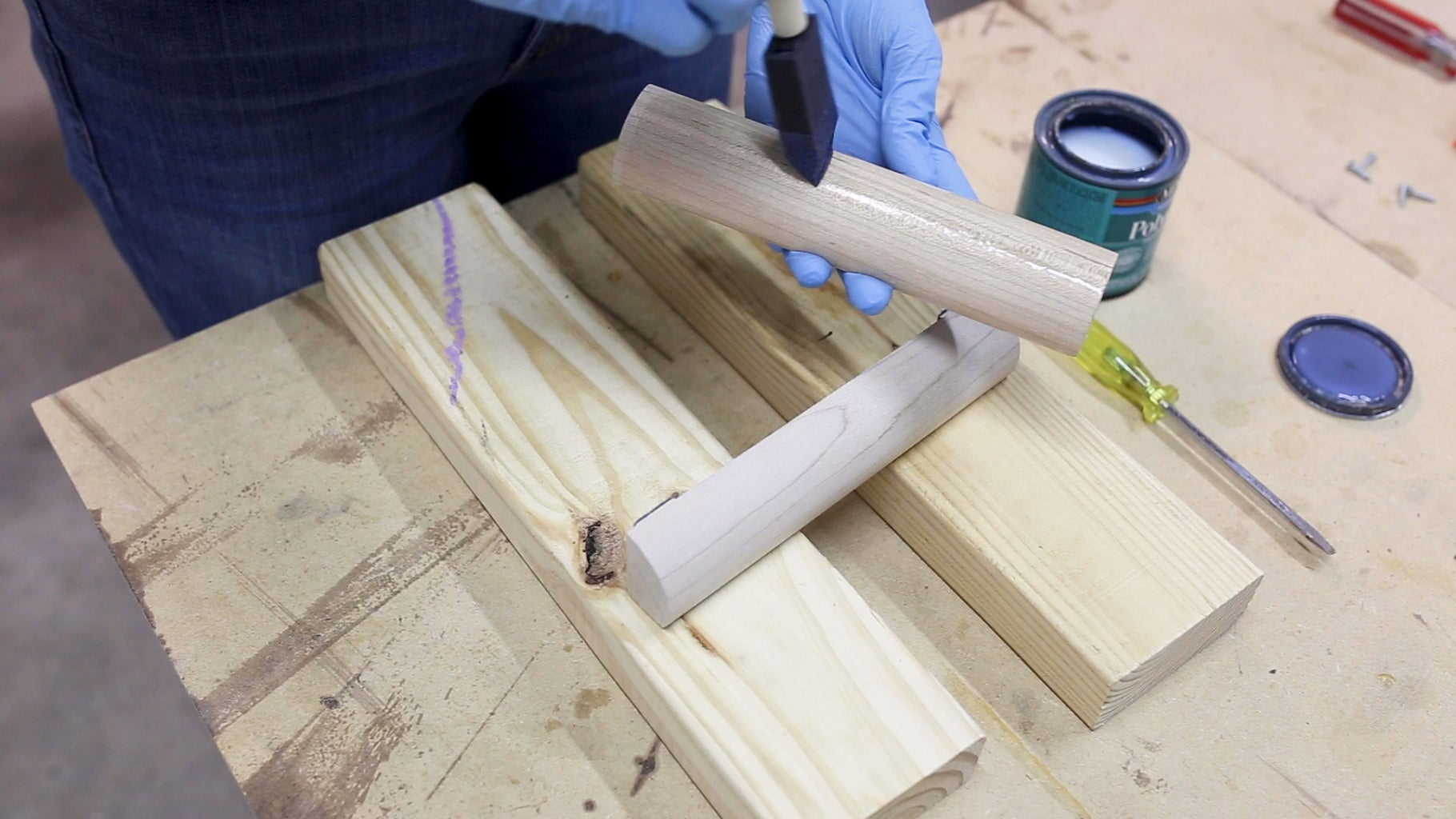 Pre-drill the Metal & Add Finish to the Wood