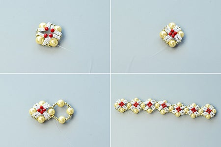 Instruction 2 on How to Make the Earrings:
