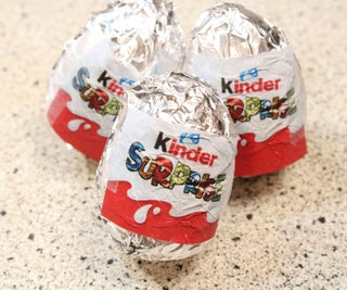 Homemade Kinder Surprise Eggs