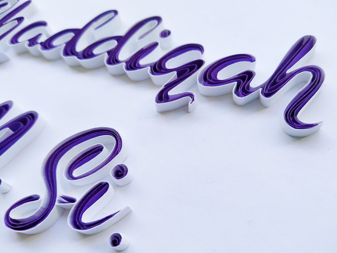 Paper Quilling Typography for Graduation