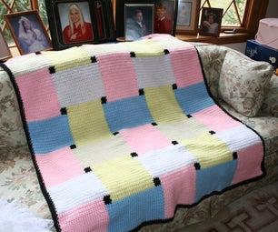 Crochet Checkmate Afghan