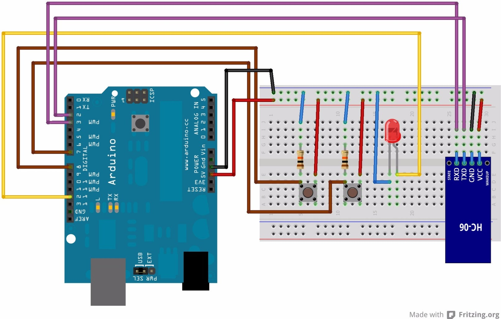 Circuit Diagram, Arduino Code and Android Application