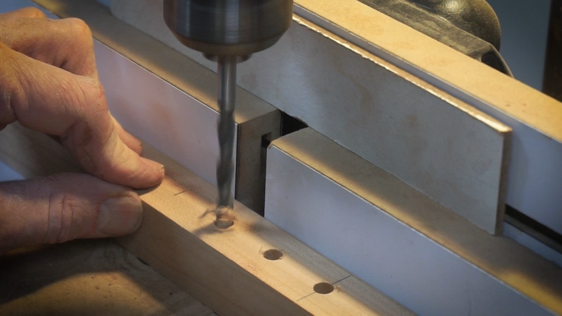 Drill Holes for the Height Adjustment