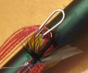 Tenkara Fishing Rod Line Keeper/Line Management Solution