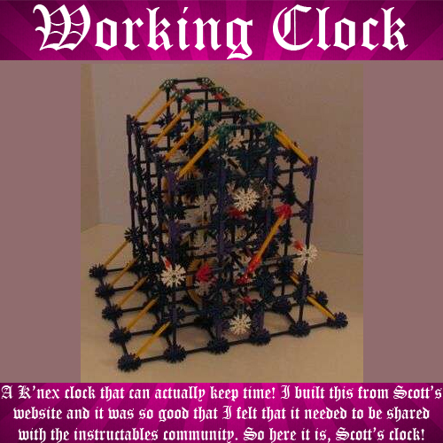 Working K'nex Clock