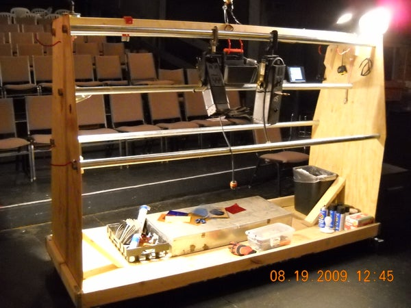 Stage Lighting Storage and Work Cart