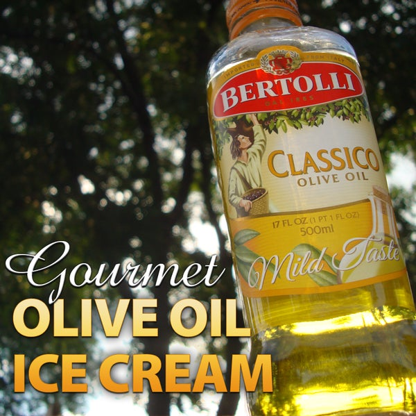 Gourmet Olive Oil Ice Cream Without an Ice Cream Maker