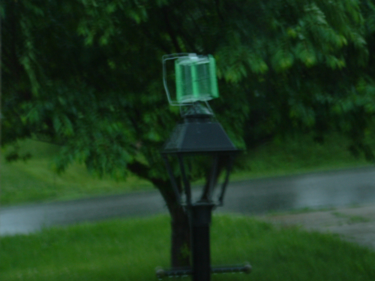 Wind Powered Yard Light