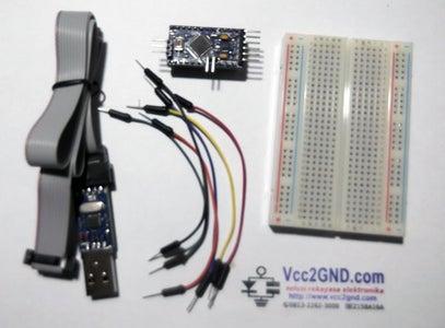 Uploading Sketch to Arduino Pro Mini Using UsbASP