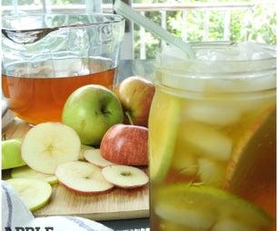 清爽的苹果冰茶