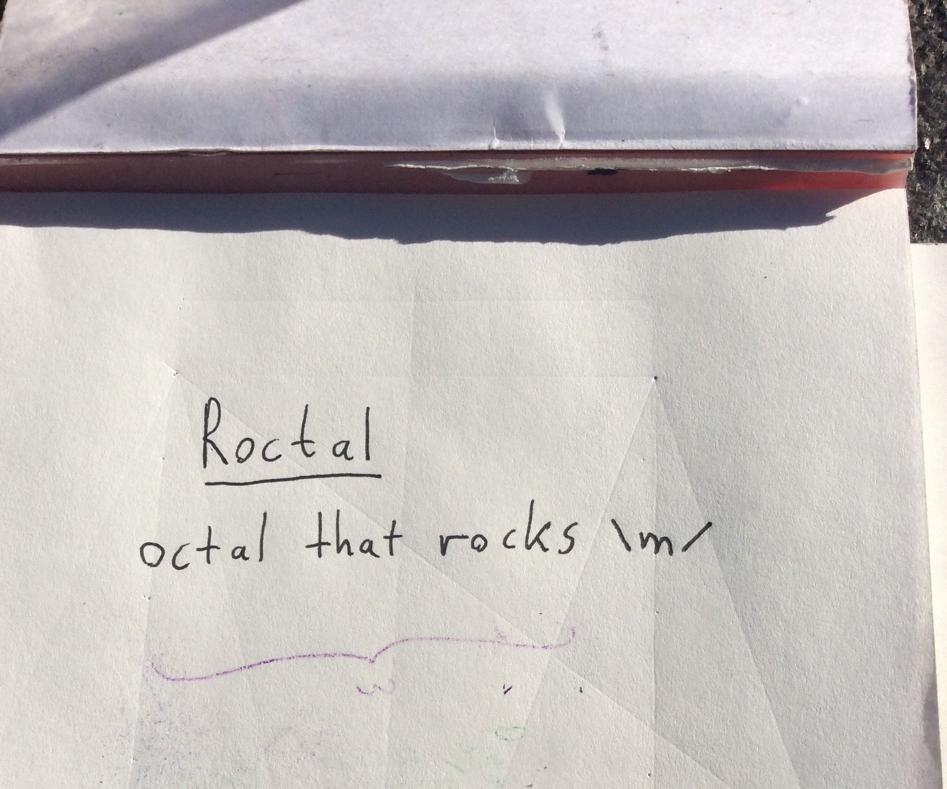 Encode A Message In Roctal, Octal That Rocks