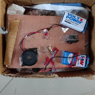"""How to Make a """"Laser Security Alarm System"""" at Home on a Breadboard."""