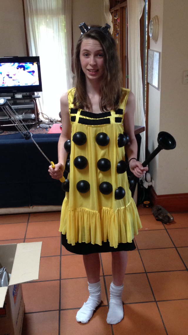 My Doctor Who Dalek Dress