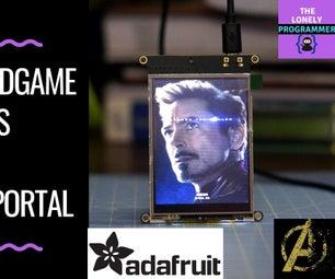 Pocket Player - Avengers: Endgame Posters on Adafruit PyPortal