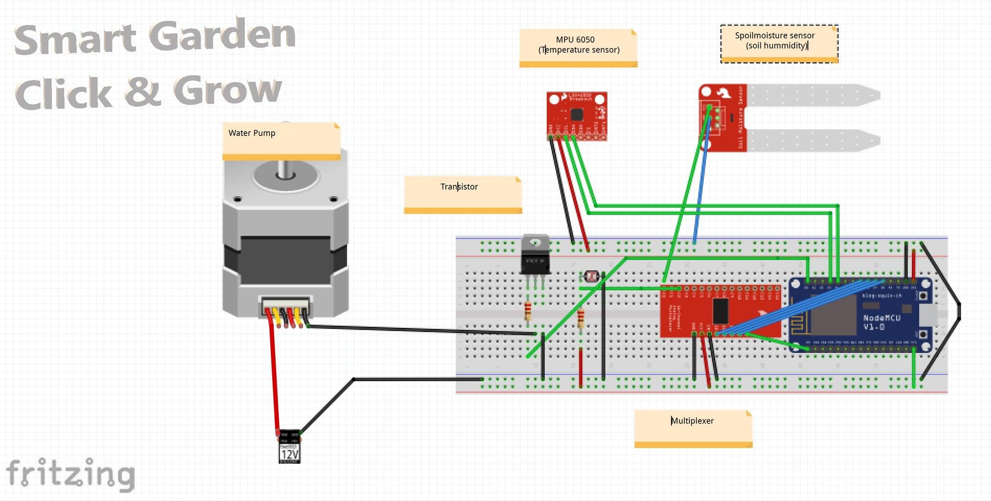 Wiring - Board and Sensors