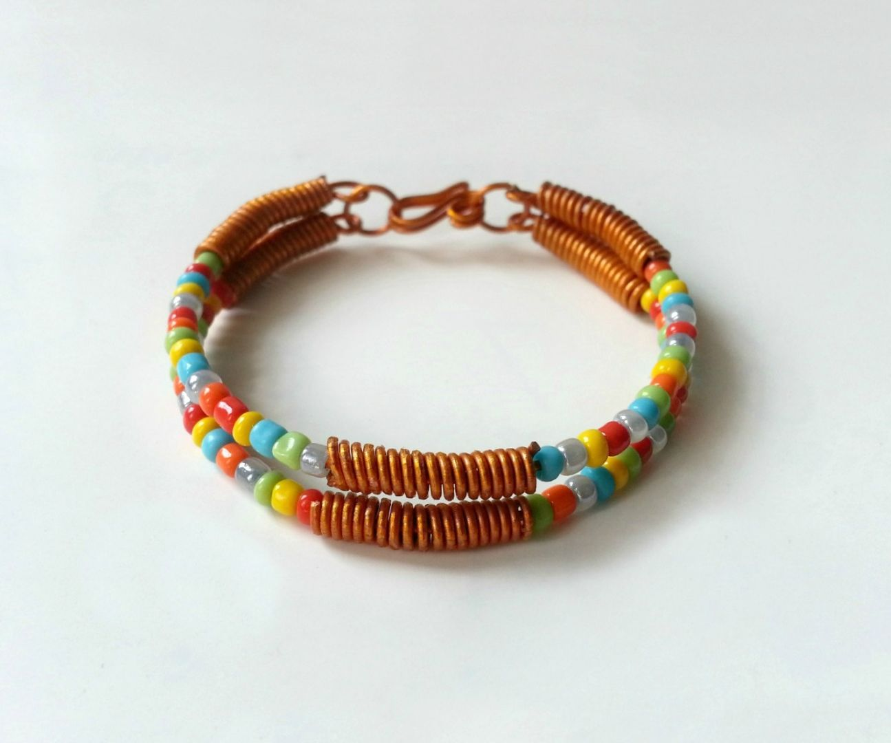 DIY Wire & Seed-Bead Bracelet