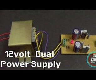 +12/-12 Volt Transformer Based Dual  Voltage Power Supply