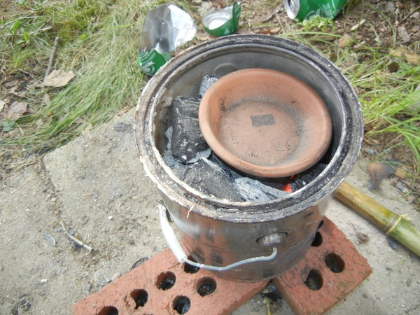 Melt Aluminum in a Charcoal Foundry