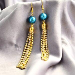 Here Is the Final Look of the Tassel Earrings.
