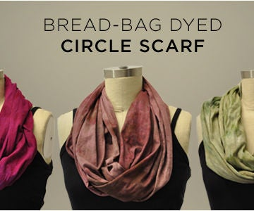 Bread Bag Dyed Circle Scarf