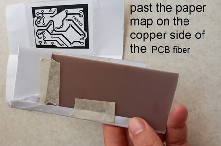 Paste the Paper Map on the Copper Fiber Section