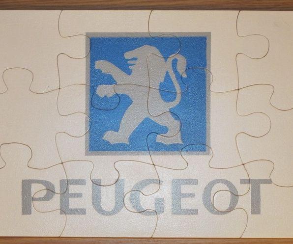Wooden Peugeot Mosaic Puzzle