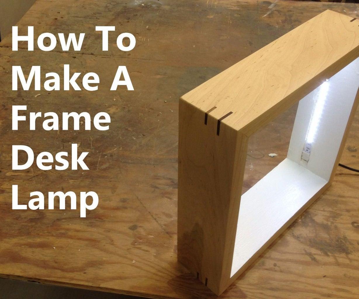 Picture Frame Desk Lamp