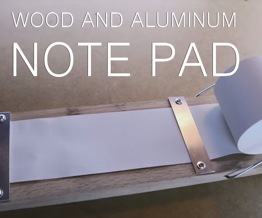 Wood and Aluminum Note Pad - Giaco Whatever Collaboration