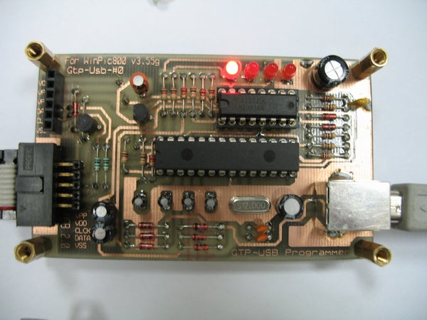 GTP USB PIC PROGRAMMER (Open Source)